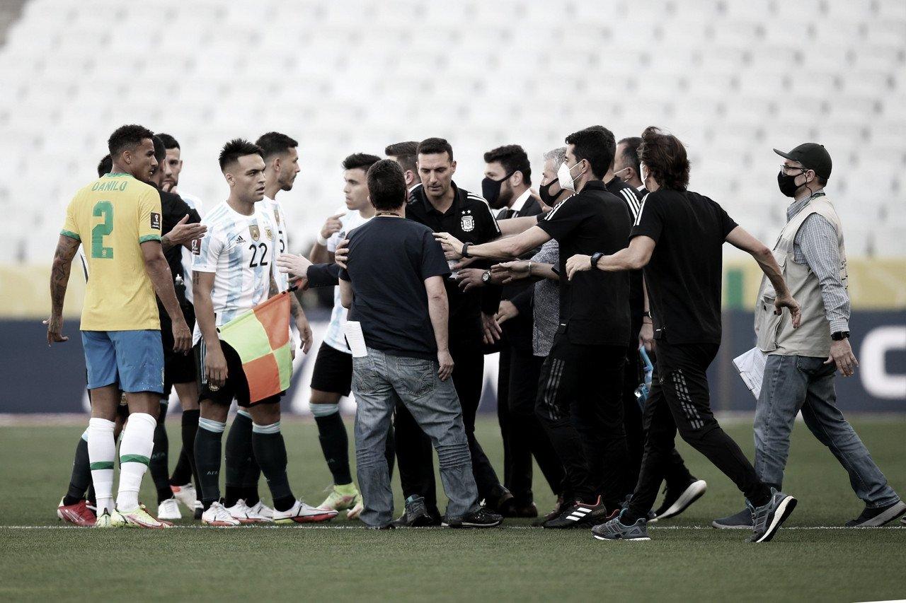¡Escándalo! El partido entre Brasil y Argentina queda suspendido