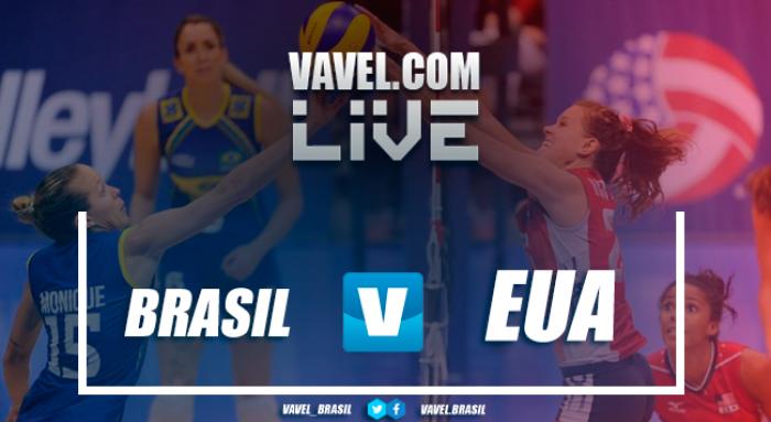 Resultado Brasil x Estados Unidos pelo Grand Prix Feminino de Vôlei (3-1)