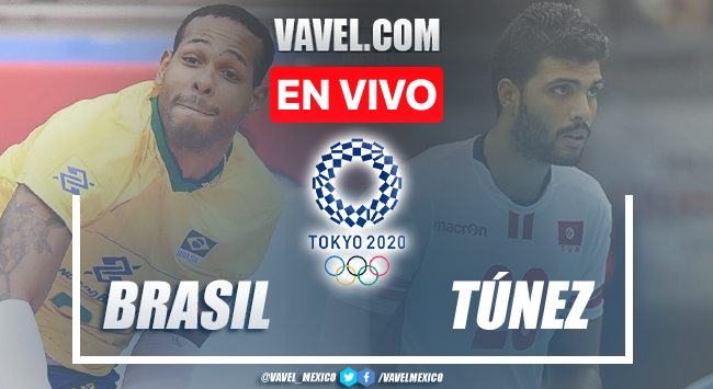 Resumen y mejores momentos del Brasil 3-0 Túnez en Voleibol Tokio 2020