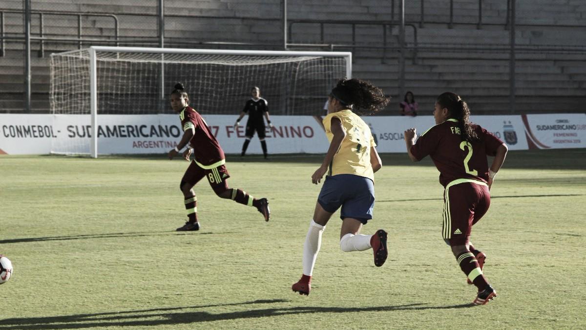 Brasil bate Venezuela sem esforços e garante vaga na Copa do Mundo de Futebol Feminino Sub-17