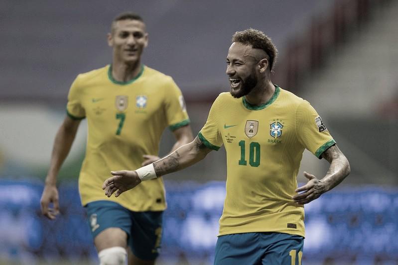 Brasil dita o ritmo e bate Venezuela na estreia da Copa América com grande atuação de Neymar
