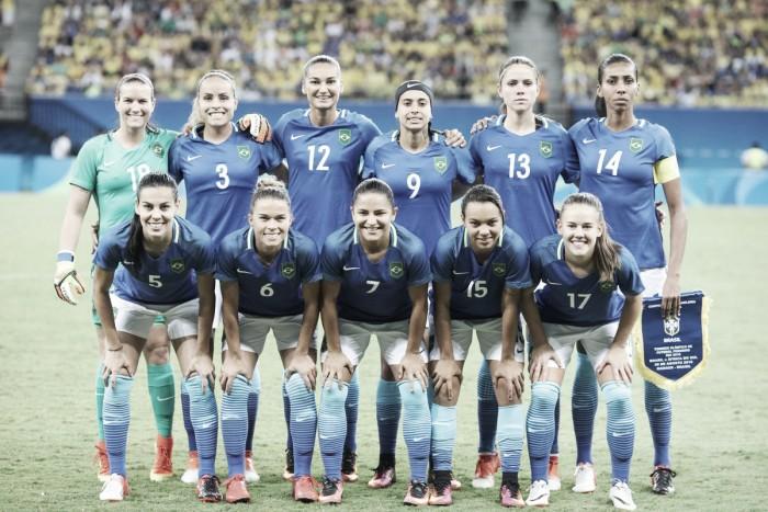 Brasil poupa titulares e empata com África do Sul no futebol feminino