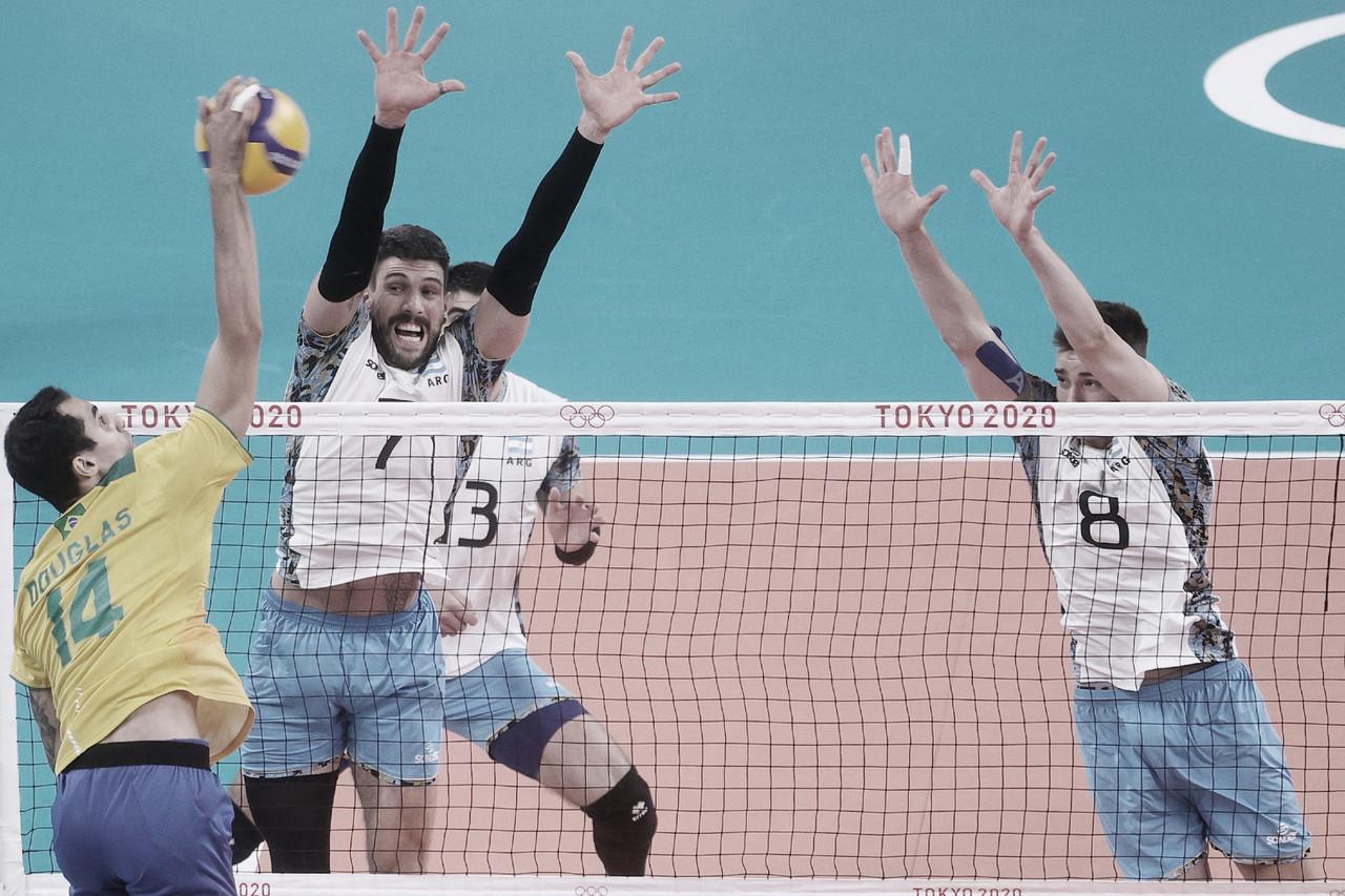 Brasil perde para Argentina no tiebreak e se despede de Tokyo 2020 fora do pódio no vôlei masculino