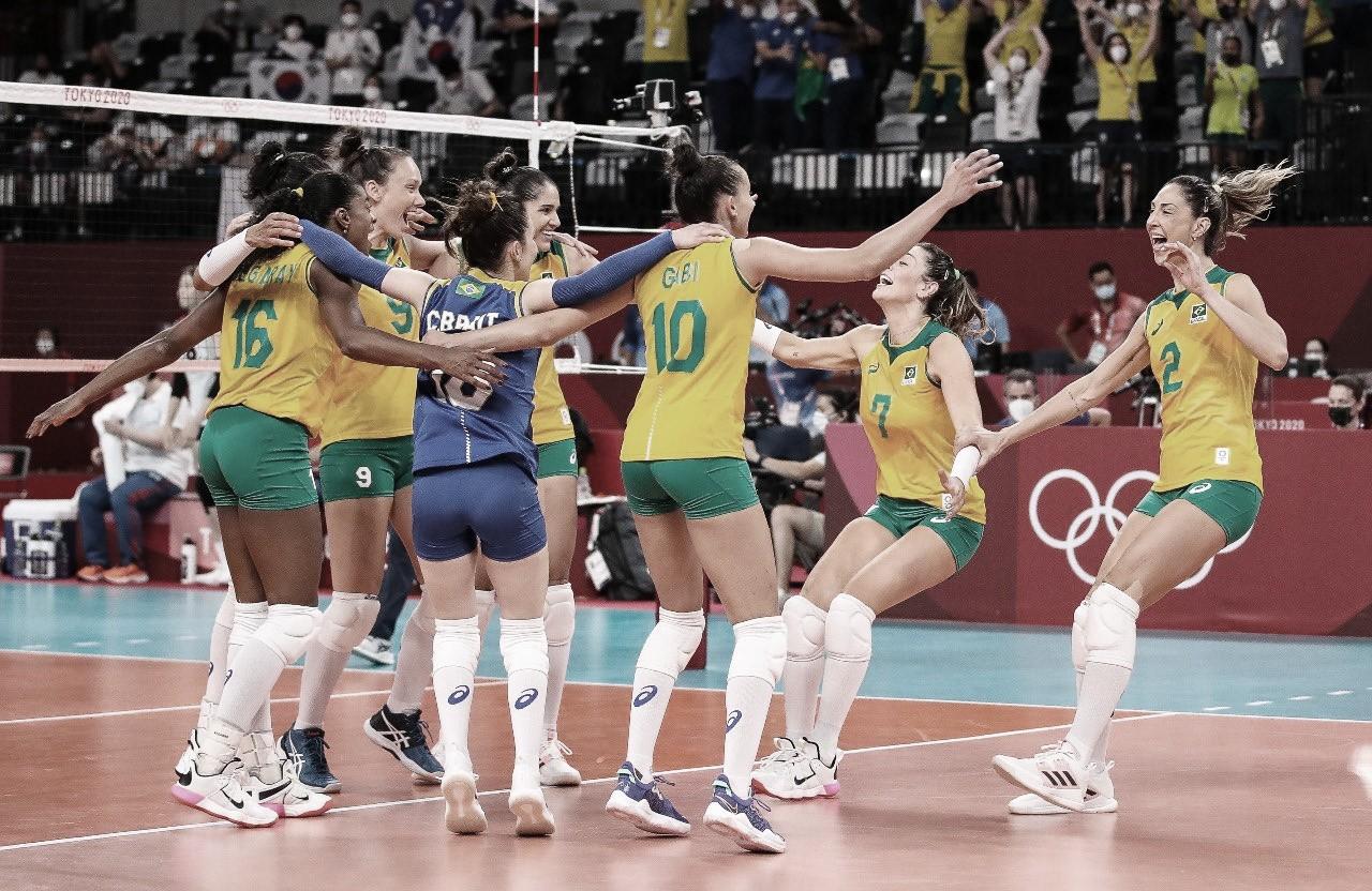 Sem dificuldades, Brasil vence Coreia do Sul e está na final do vôlei feminino