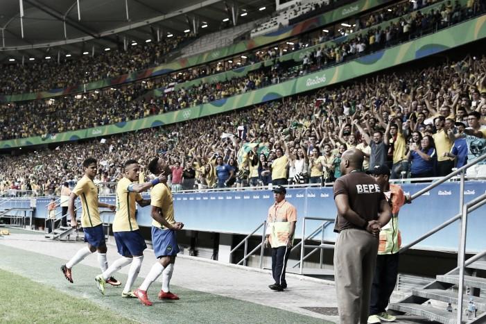 Brasil encara Colômbia pelas quartas do futebol masculino na Rio 2016