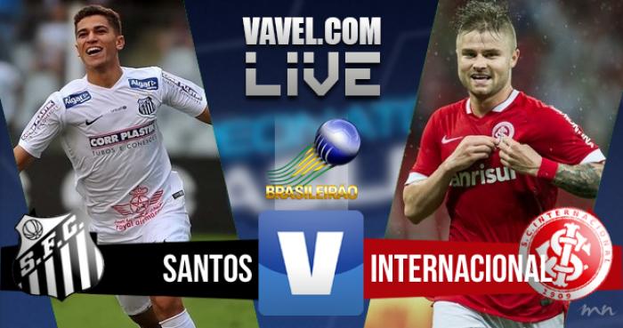 Resultado Santos x Inter no Brasileirão 2016 (0-1)