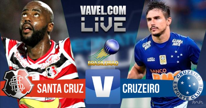 Resultado Santa Cruz x Cruzeiro no Brasileirão 2016 (4-1)