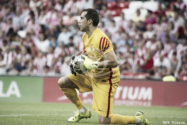 Claudio Bravo puede hacer historia en liga y superar la cifra de los 1.000 minutos sin encajar gol