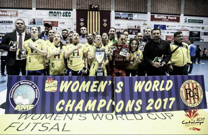 Brazil triumphs in the 2017 AMF Futsal Women's World Cup; USA comes seventh