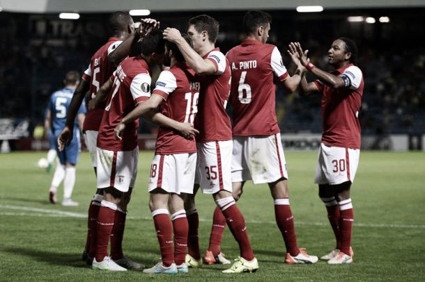 Liga Europa: Braga bate Slovan Liberec, Belenenses empata Lech Poznan