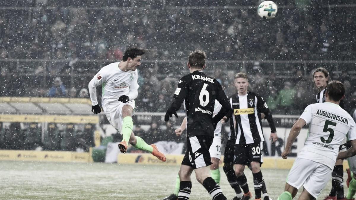 Borussia Mönchengladbach cede empate ao Werder Bremen no fim e freia reação na Bundesliga