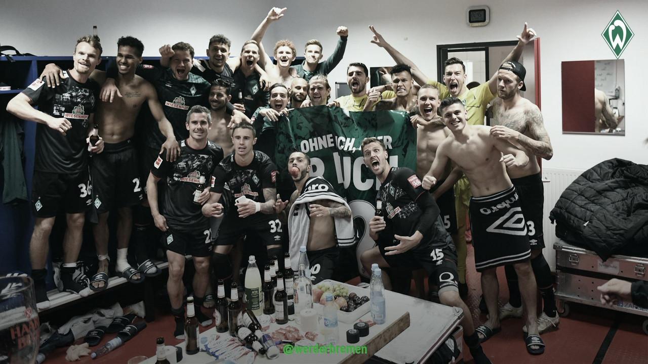 El Werder Bremen seguirá en la Bundesliga / Foto: @werderbremenES