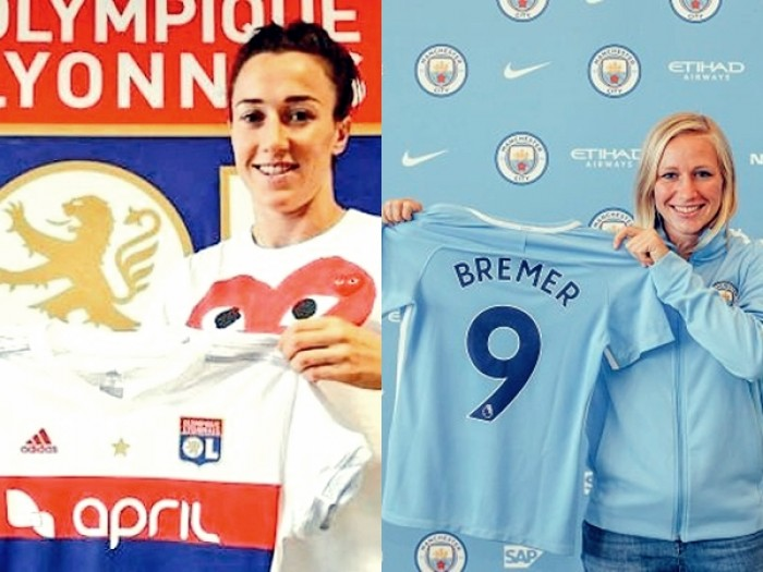 Em troca, Lyon contrata lateral inglesa Lucy Bronze e cede meia alemã Bremer ao Man City