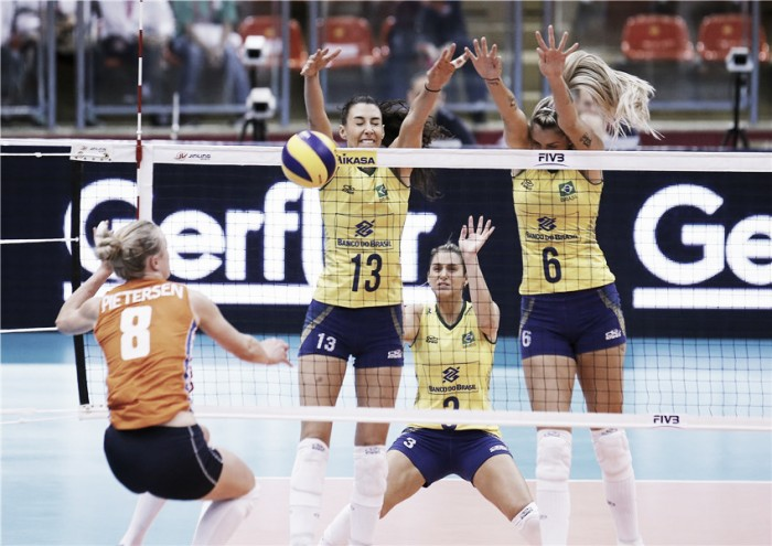 Brasil passa por cima da Holanda, faz 3 a 0 e vai à final do Grand Prix