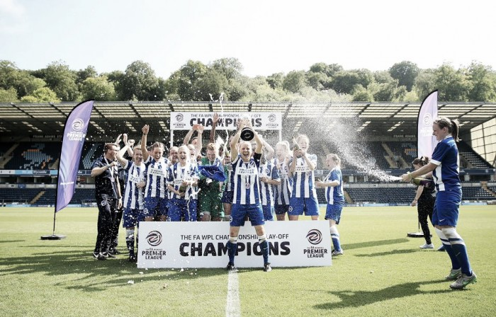 Brighton & Hove Albion 4-2 Sporting Club Albion: Seagulls promoted to WSL 2 after play-off victory