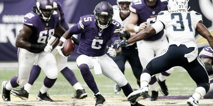 Teddy Bridgewater sofre grave lesão no joelho e desfalca Vikings pelo resto da temporada