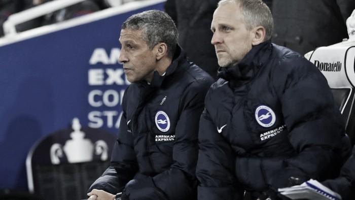"""Hughton: """"Nuestra prioridad es asegurarnos la permanencia en la Premier League"""""""