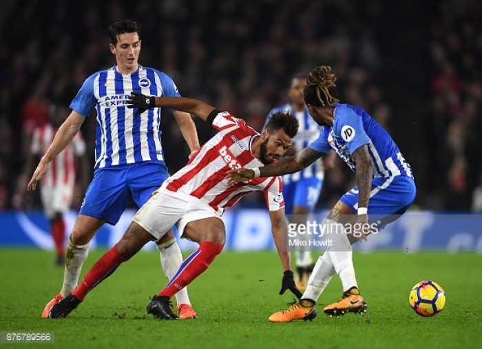 Jese Rodriguez in Stoke City penalty bust-up against Brighton