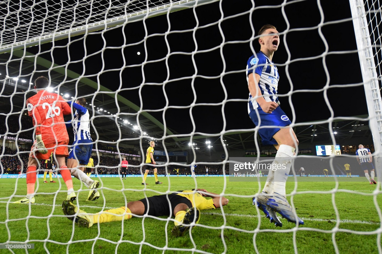 Brighton & Hove Albion 1-1 Watford: Hornets let another lead slip