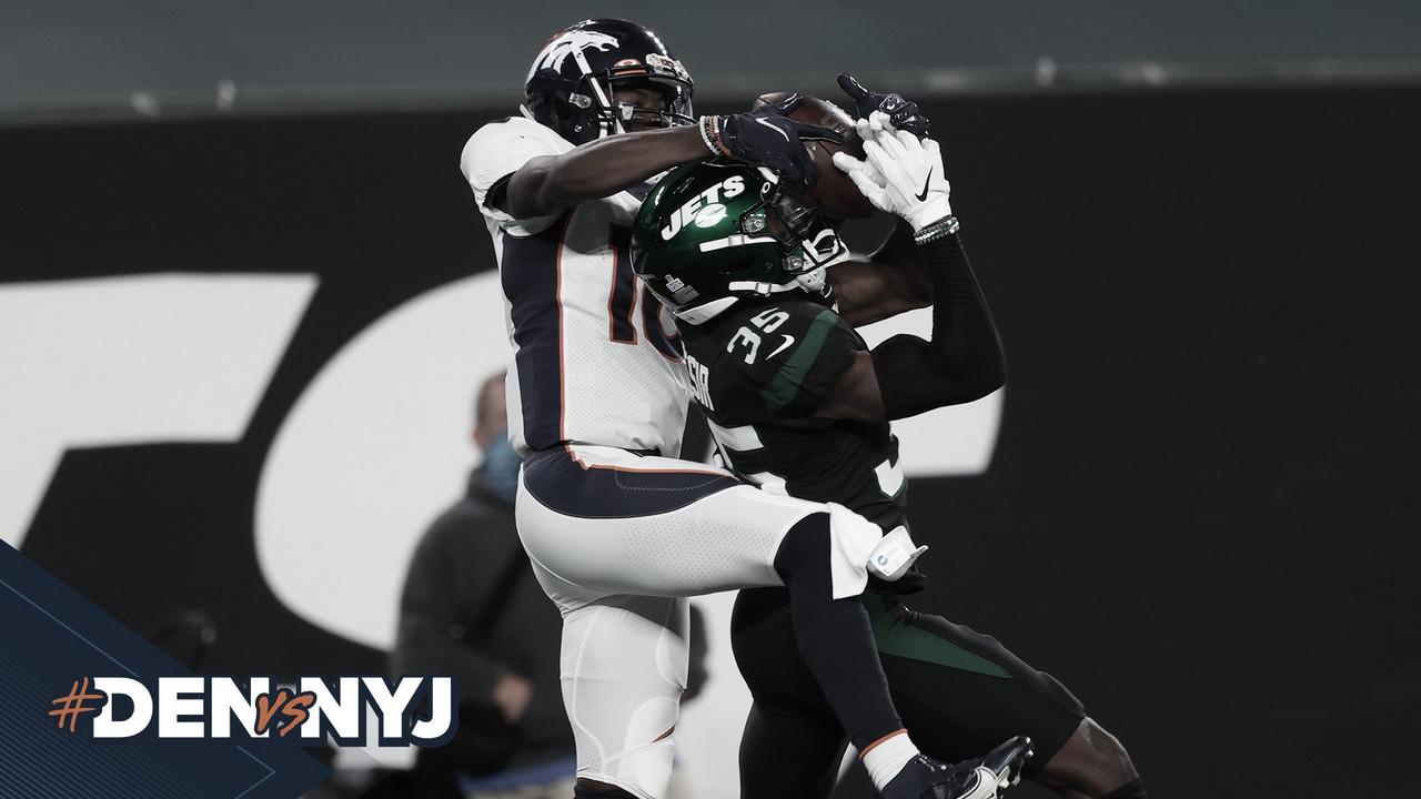 Fora de casa, defesa aparece no fim e Denver Broncos vence New York Jets