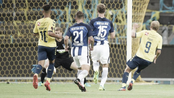 Brøndby IK (3) 3-1 (2) Hertha BSC: Ghosts of Bundesliga past come back to haunt Hertha