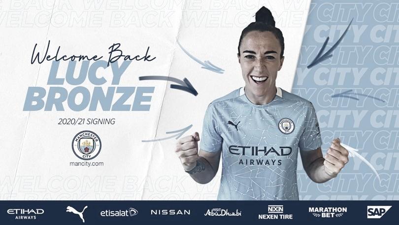 Lucy Bronze retorna ao Manchester City depois de fazer sucesso no Lyon