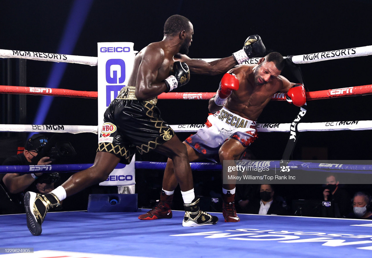 Terence Crawford produced another vicious TKO, this time to defeat Britain's Kell Brook (PIC: Mikey Willliams, Top Rank)