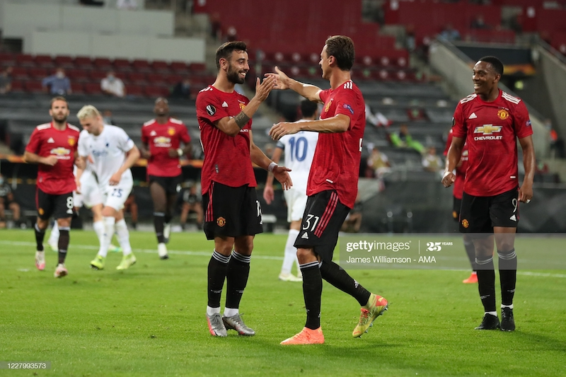 Manchester United 1-0 [AET] FC Copenhagen: Fernandes fires United into semi-final of Europa League