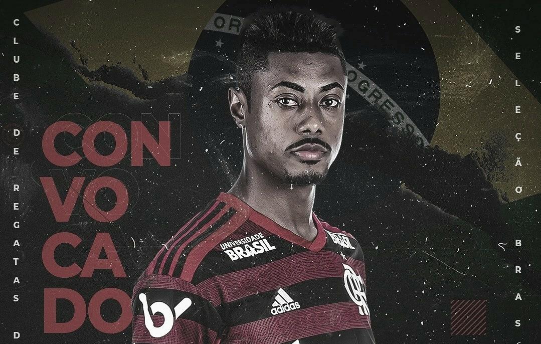 Emocionado, Bruno Henrique faz discurso em treino do Flamengo após convocação