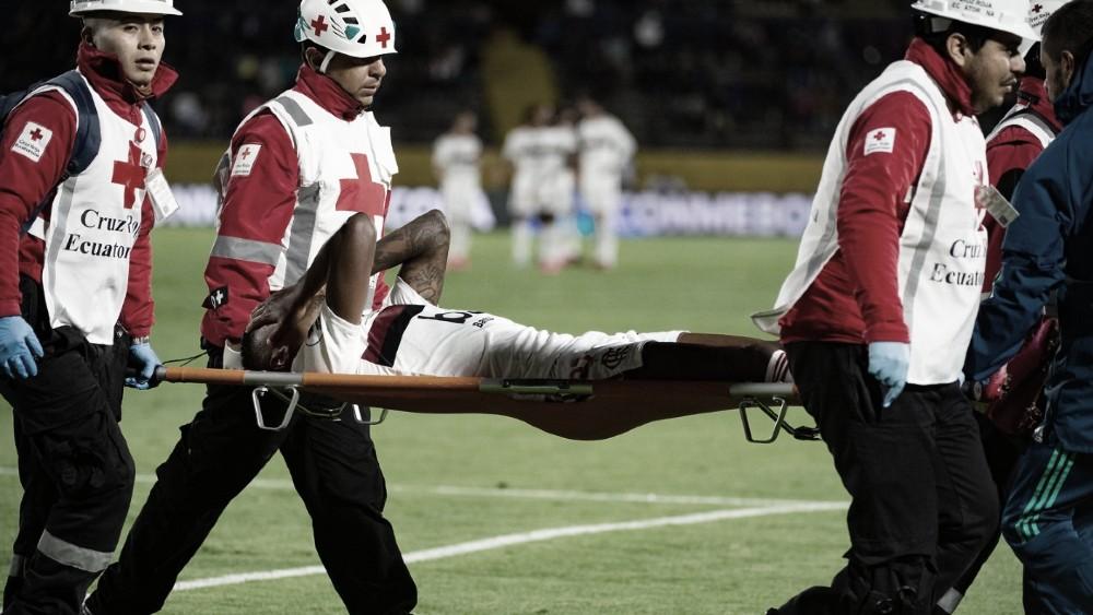 Ind. del Valle empata com Flamengo na Recopa, e lesão de Bruno Henrique preocupa
