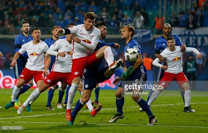 RB Leipzig 2-1 Schalke 04: Werner and Kolasinac own-goal keep Leipzig top