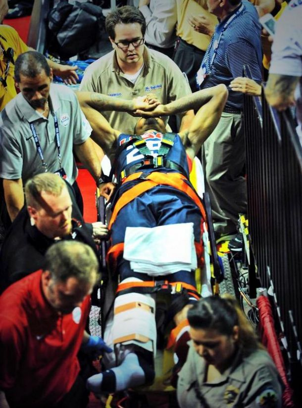 Paul George Suffers Gruesome Leg Injury During Team USA Blue - White Scrimmage