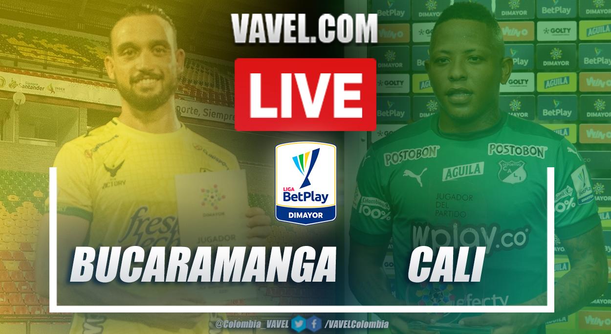 Resumen Atlético Bucaramanga vs Deportivo Cali (1-0) en la fecha 14 por Liga BetPlay 2021-I