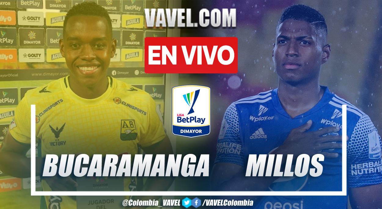 Resumen Bucaramanga 3-4 Millonarios en la fecha 9 por Liga BetPlay 2021-II