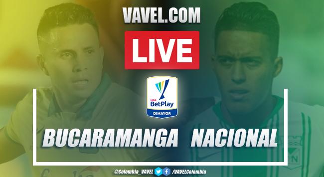 Resumen: Bucaramanga vs Nacional (1-2) por Liga BetPlay