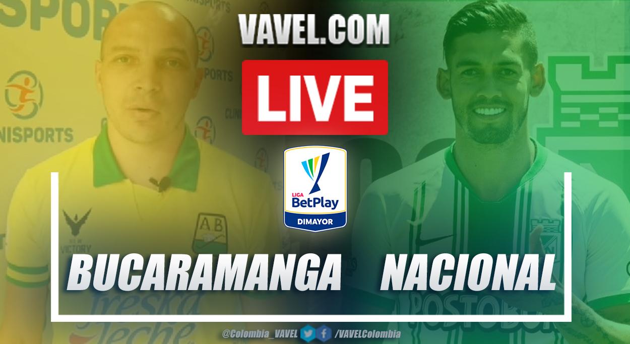 Resumen Bucaramanga vs Nacional (3-2) en la fecha 9 por Liga BetPlay 2021-I