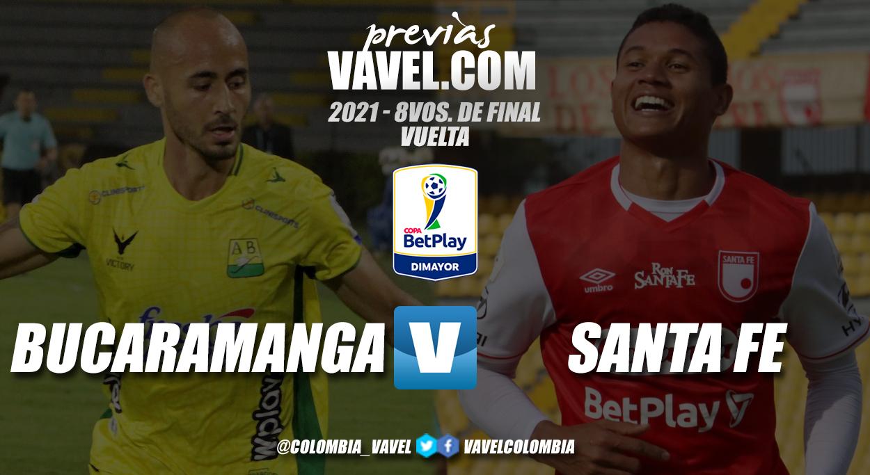 Previa Atlético Bucaramanga vs Independiente Santa Fe: por un cupo en cuartos de final de la copa