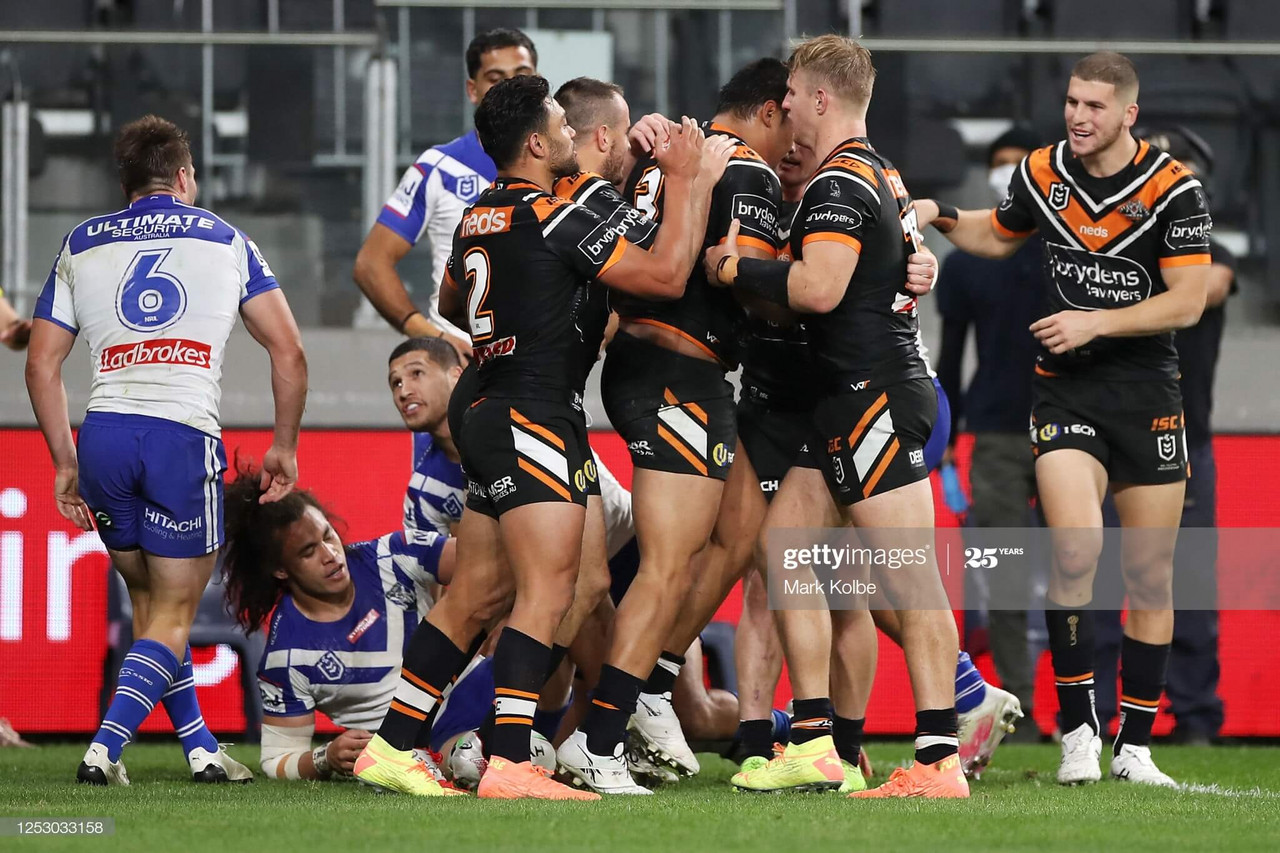 NRL: Canterbury Bulldogs 6-34 Wests Tigers: Bulldogs misery continues as Tigers cruise to victory