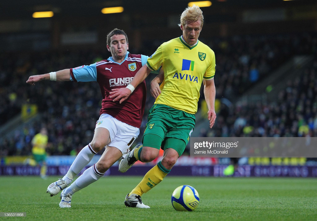 Burnley v Norwich City: Five previous meetings