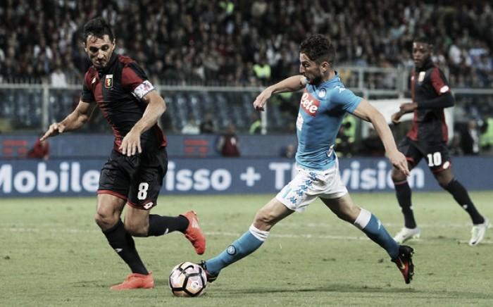 Napoli sofre com retranca do Genoa, empata sem gols e vê Juventus assumir liderança