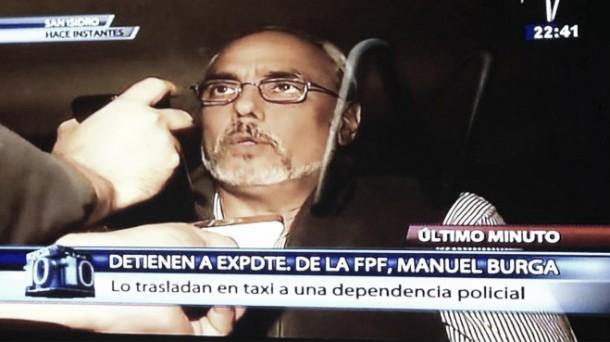 Manuel Burga fue capturado por la Policía Nacional del Perú