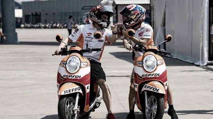 Marc Márquez y Dani Pedrosa conocen el circuito de Buriram