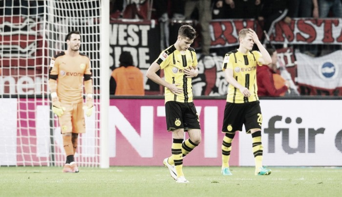 """Bürki lamenta revés do Dortmund diante do Leverkusen : """"Estávamos cansados"""""""