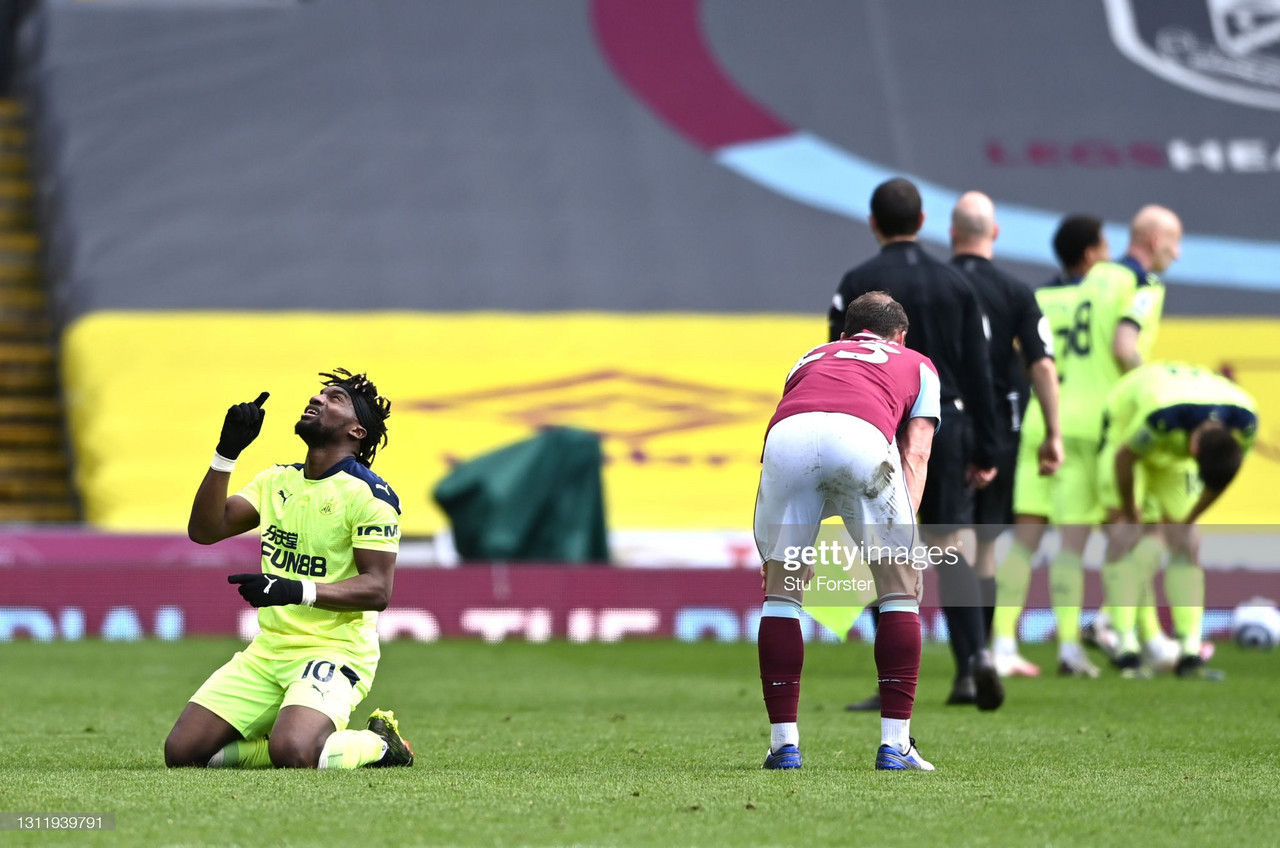 Burnley 1-2 Newcastle United:  Fantastic Saint-Maximin fires Newcastle closer to saftey