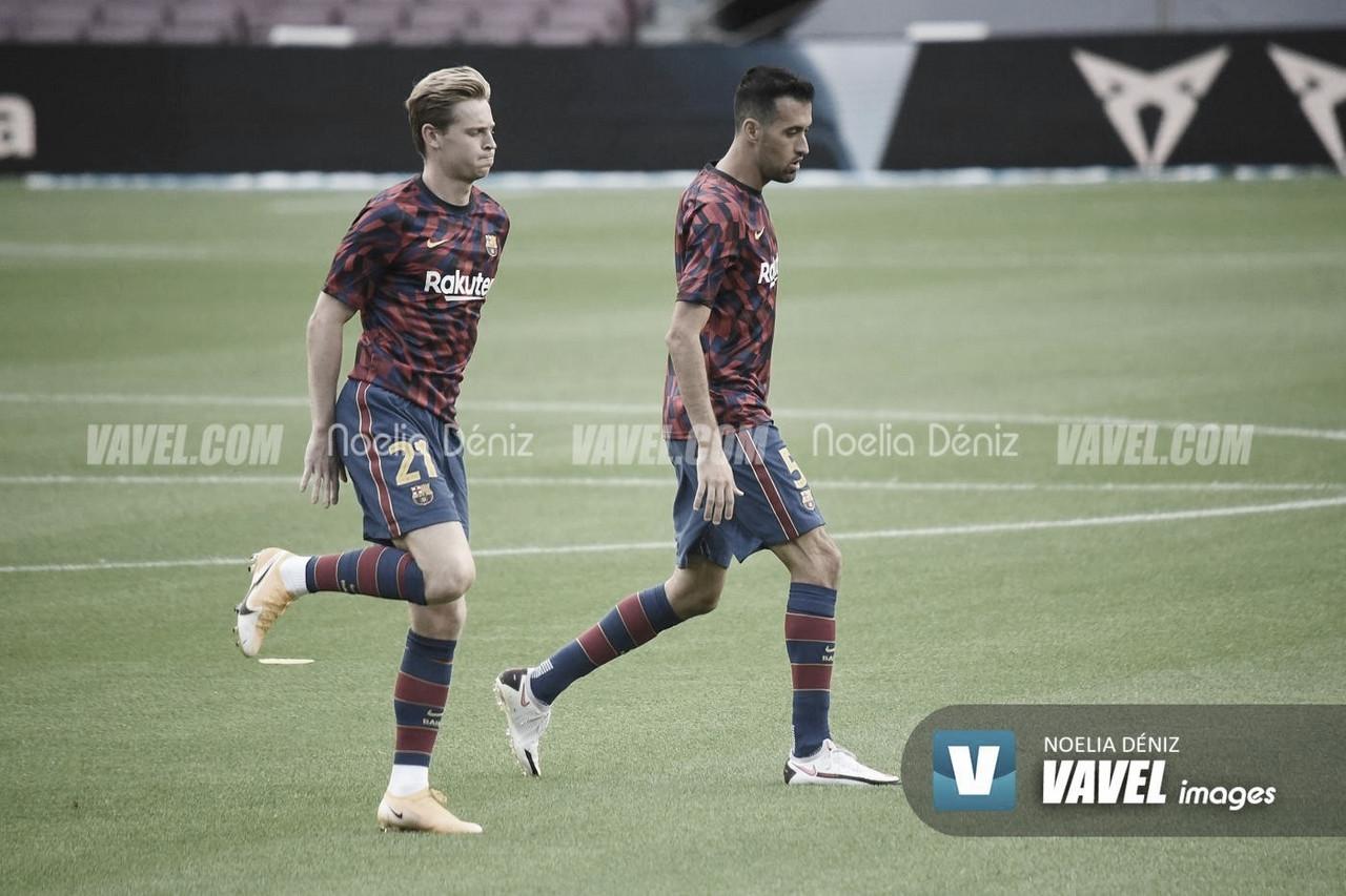 El Barça entrena antes de viajar a Valencia