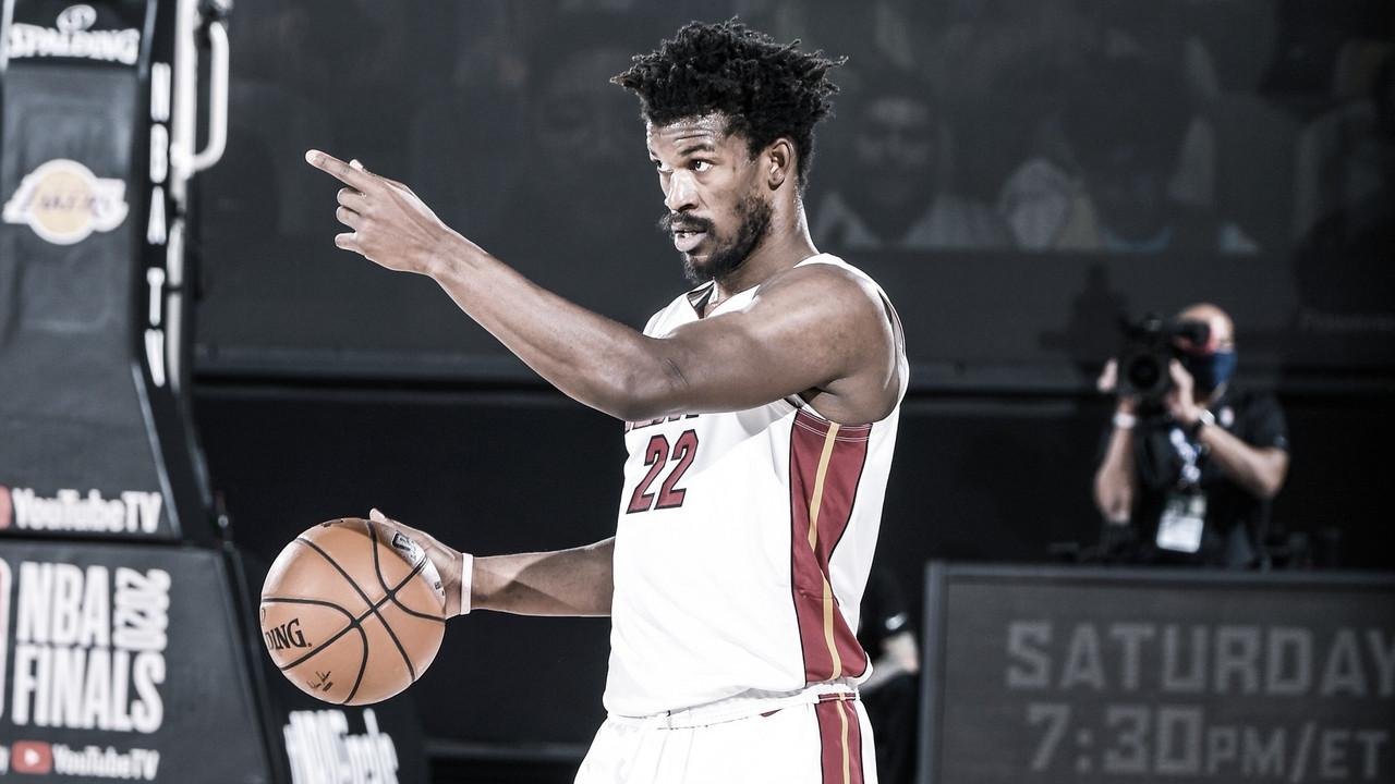 Jimmy Butler, o homem do jogo | Foto: Divulgação/Miami Heat