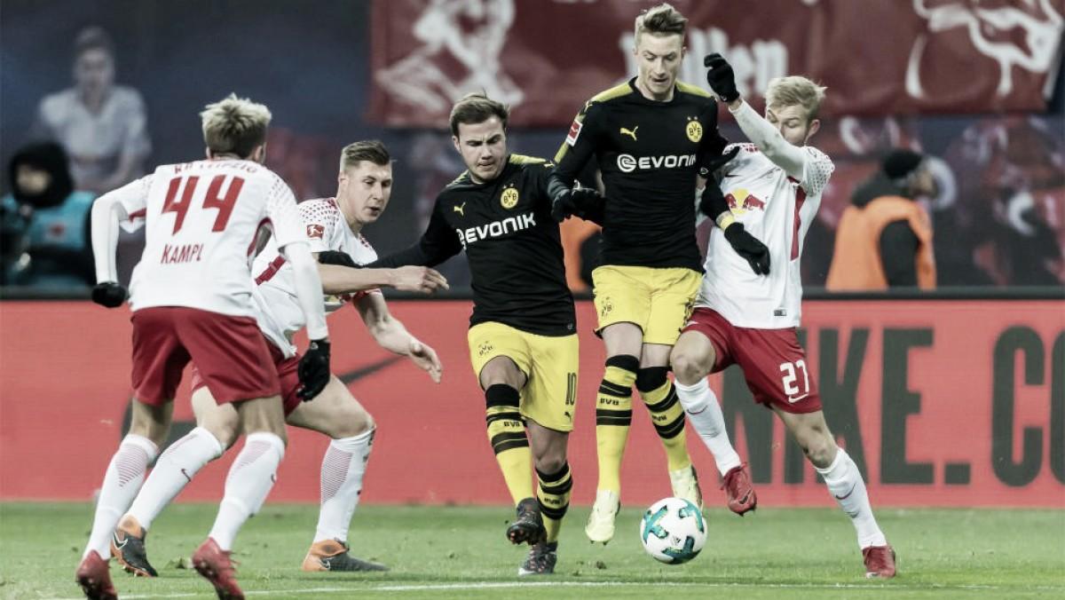 Em jogo movimentado, RB Leipzig e Borussia Dortmund ficam no empate pela Bundesliga