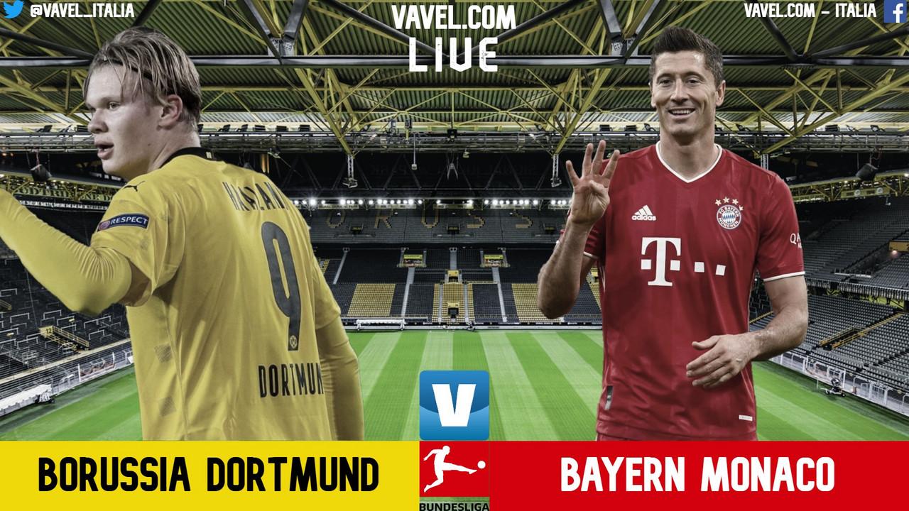 Terminata Borussia Dortmund - Bayern Monaco in diretta, LIVE Bundesliga 20/21: Vince il Bayern! (2-3)