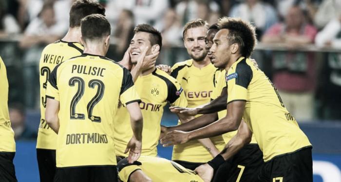 Fora de casa, Borussia Dortmund goleia Legia Varsóvia pela Champions League