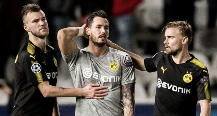 """Lateral Schmelzer afirma decepção do Dortmund após empate: """"Estamos desapontados"""""""